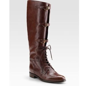 Burberry Lace Up Equestrian Boots 🐎